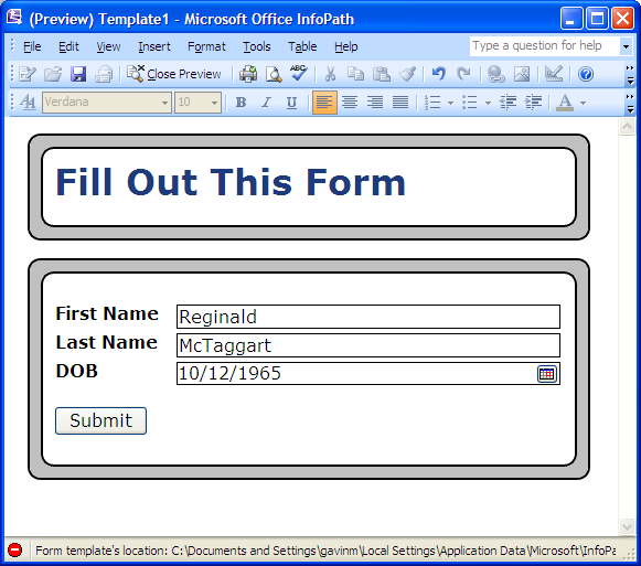 howto add rounded corners to an infopath 2007 form back in hack